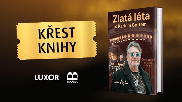 Pozvánka na křest knihy ZLATÁ LÉTA S KARLEM GOTTEM