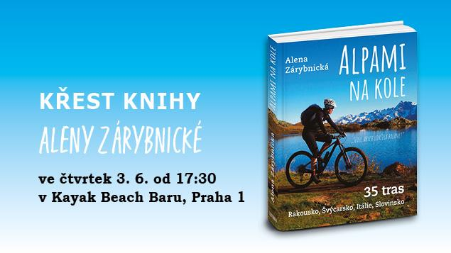 Křest knihy Aleny Zárybnické Alpami na kole
