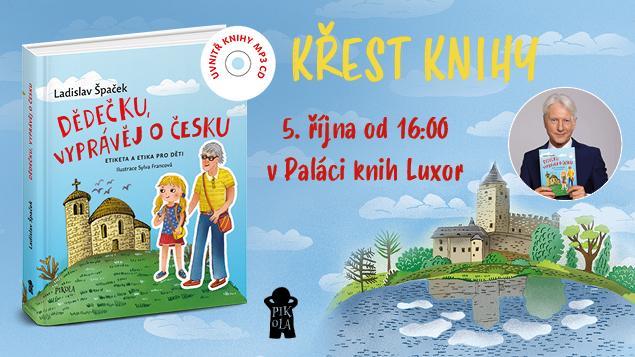 Křest knihy Dědečku, vyprávěj o Česku